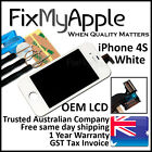 iPhone 4S White Front Glass Touch Screen OEM LCD Digitizer Assembly Replacement