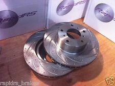 SLOTTED DISC BRAKE ROTORS TO SUIT Ford Maverick GY KY NISSAN PATROL CQ  MQ PAIR