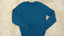 UNIQLO bleu sarcelle taille s uk 10-12 100% cashmere jumper (84/05)