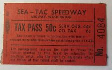 vintage red ticket from SEA-TAC SPEEDWAY Auto Racing SEATTLE WASH. area