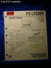 Sony Service Manual PS LX300H Turntable System (#4343)