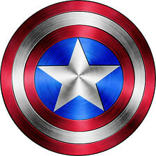 "Captain America Shield Vinyl Sticker Decal 14"" (full color)"