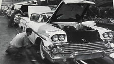"1958 Chevrolet Assembly Line 12X18"" Black & White Picture"