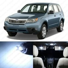 8 x Xenon White LED Interior Lights Package For 1998 - 2013 Subaru Forester