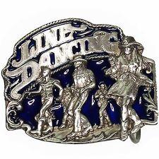 Hebilla de Cinturón Estilo Western Danza en Linea - Azul Nuevo