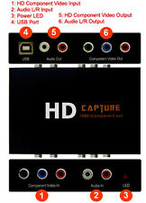 HD Component Video To USB Converter With Component Video Audio Loop-Through