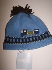 NWT GYMBOREE CHOO CHOO BABY BLUE TRAIN WINTER HAT 3-6 mo  Free US Shipping