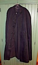 Vintage slicker rain cape oilskin canvas coat jacket overcoat police ??