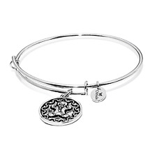Chrysalis Petite Gingerbread Man Expandable Bangle Rhodium Plate, CRBT0411SPSML
