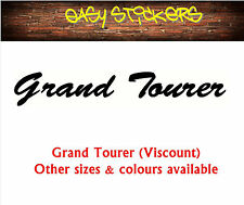 290mm Grand Tourer Viscount Caravan Sticker - Any Colour!