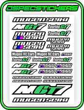 RC MUGEN SEIKI GT STICKER DECAL SHEET GT7 ECO NITRO REMOTR CONTROL RACE CAR