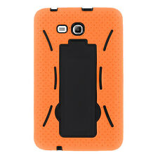Orange 2in1 Hybrid Case Skin Cover For Samsung Galaxy Tab E Lite 7.0 / 3 7""