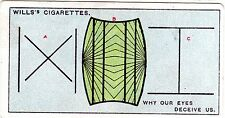 Cigarette card from Wills, Do You Know, No 16 of 50, Eyes deceive us?