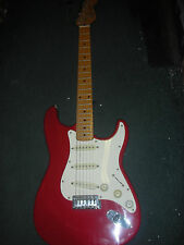 SQUIER II STRATOCASTER By Fender E9 SN Red & White Beautiful Electric Guitar