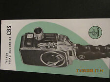 Bolex Paillard movie camera C8S Movie Leaflet English language version 1950's