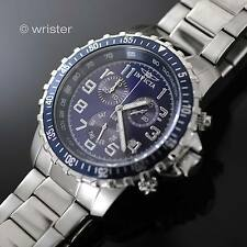 Mens Invicta Specialty Surgical Stainless Steel Chronograph Blue Dial 45mm Watch