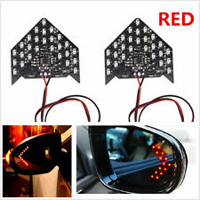 2 Super Red 33-SMD Sequential LED Arrows for Car Side Mirror Turn Signal Lights