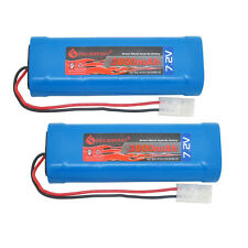 2x 7.2V 3800mAh Ni-MH RC Rechargeable Battery Tamiya Plug For RC Car Boats USA