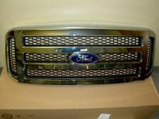 2006 2007 Ford F250 F350 F450 Lariat Chrome Grille Grill New OEM 6C3Z 8200 BA
