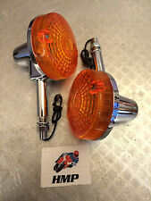 SUZUKI GT250 EN X7 PAIR OF QUALITY CHROME INDICATORS NEW