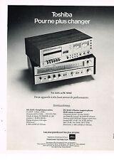 PUBLICITE  1976   TOSHIBA   ampli-tuner stéréo  hi-fi