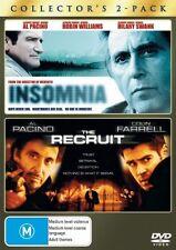 The Insomnia  / Recruit (DVD, 2008, 2-Disc Set) New DVD Region 4 Sealed