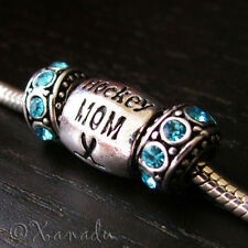 Hockey Mom European Charm And Crystal Birthstones For European Charm Bracelets