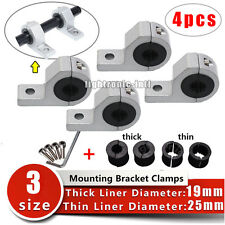 """4X 1"""" inch 19 25 30mm Roll Tube Pipe Mount Bracket Clamp Off Road LED Light Bar"""