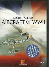 SECRET ALLIED AIRCRAFT OF WWII DVD - WORLD WAR 2 - HISTORY CHANNEL