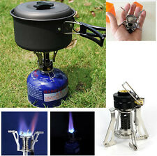 Outdoor Picnic Butane Gas Burner Portable Camping Mini Steel Stove Case Hot UR