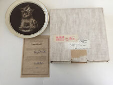 """1981 Puppies World Series """"First Birthday"""" Droguett 1st Issue Collector Plate"""