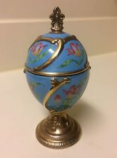 """Vintage House Of Faberge Musical Eggs Tulip Tchiakovsky's """" Our Love """""""