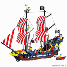 UNBRANDED* Pirates Ship 8 Figures Cannons Caribbean Sea  Great Value 870pcs #308