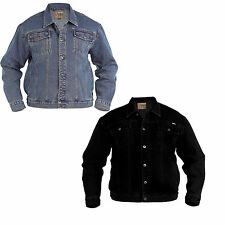 MENS DENIM JACKET AZTEC DUKE JEANS TOUGH HEAVY DUTY CLASSIC WESTERN STYLE COAT