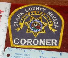 Clark County Las Vegas Nevada Medical Examiner Coroner Patch Free Shipping