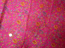 Fabric Silk Habotai Dress India Floral Magenta Fuchsia Pink Multi-Color BTY