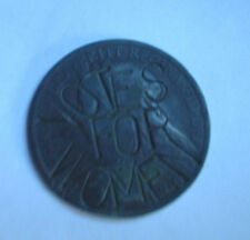 SUFFRAGETTE VOTES FOR WOMEN ORIGINAL DEFACED VICTORIAN UK COIN - VERY RARE!.