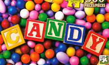 """""""CANDY!"""" Colorful Sweets Baby Blocks Almonds Gumballs BOXLESS Jigsaw Puzzle *NEW"""