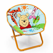 NEW DELTA CHILDREN DISNEY WINNIE THE POOH KIDS SAUCER CHAIR CHILDS FOLDING CHAIR