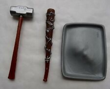 WWE Weapons Hammer, Cookie Sheet & Barbed Wire Bat WRESTLING FIGURE ACCESSORIES