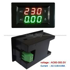 Digital AC Voltmeter ammeter 300V 10A V Amp LED Panel Meter Current Transformer