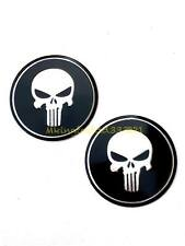 Motorcycle 2'' Skull Punisher Gas Fuel Tank Emblem Badge Decal All Years