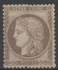 """FRANCE STAMP TIMBRE  N° 56 """" CERES 30c  BRUN 1872 """" NEUF x TB SIGNE   N287"""