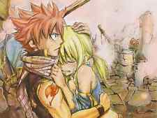 Poster A3 Fairy Tail Natsu Dragneel Lucy Heartfilia 02