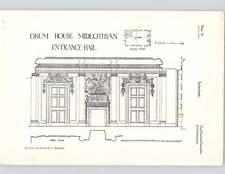 1924 Interiors Drum House Midlothian Entrance Hall Part Plan