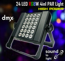 LED RGBW Slim PAR Light 4-in-1 24x1W Sound to Light DMX High Power Wall Wash