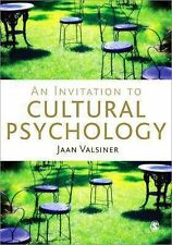 An Invitation to Cultural Psychology by Jaan Valsiner (2014, Paperback)