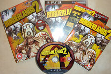 SONY PLAYSTATION 3 PS3 GAME BORDERLANDS 2 II PREMIERE CLUB EDITION COMPLETE VGC
