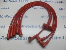 ALL RED 8MM PERFORMANCE IGNITION LEADS ESCORT MK4 MK3 MK2 RS TURBO FIESTA MK2 HT
