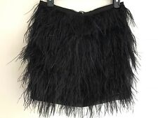 STUNNING MICHAEL KORS SKIRT SIZE 2 WITH OSTRICH FEATHERS BLACK SHORT DRESSY RARE